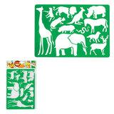 Трафарет KOH-I-NOOR «Safari», с изображениями диких животных, 315×200 мм, европодвес