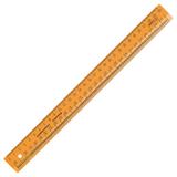Линейка СТАММ «Закройщика», 30 см, непрозрачная, неоновая, шкала сантиметровая и масштабная 1:4