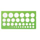 Трафарет СТАММ окружностей, 36 элементов диаметром от 1 до 36 мм, зеленого цвета