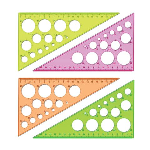 Треугольник СТАММ «Neon Cristal», 30×19 см, тонированный, прозрачный, неоновый, ассорти