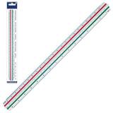 Линейка масштабная 30 см, 6 шкал, пластиковая, STAEDTLER (Германия), 1:20/<wbr/>25/<wbr/>50/<wbr/>75/<wbr/>100/<wbr/>125, трехгранная