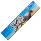Линейка 3D, 20 см, BRAUBERG, объемная, «Белые кони», европодвес