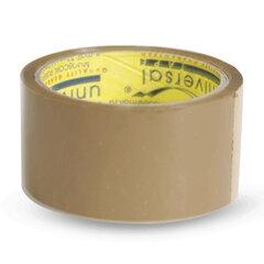 Клейкая лента 48 мм х 40 м, потребительская, UNIVERSAL, коричневая