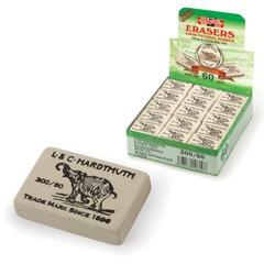 Резинка стирательная KOH-I-NOOR «Слон», прямоугольная, 31×21×8 мм, белая, картонный дисплей