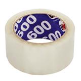 Клейкая лента 48 мм х 66 м, упаковочная, «UNIBOB 600», прозрачная, 45 мкм