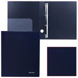 Папка на 4 кольцах BRAUBERG (БРАУБЕРГ) «Диагональ», 40 мм, черная, до 250 листов, 0,9 мм