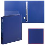 Папка на 4 кольцах BRAUBERG «Диагональ», 40 мм, темно-синяя, до 250 листов, 0,9 мм