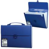 Портфель пластиковый BRAUBERG (БРАУБЕРГ), А4, 332×245×35 мм, 13 отделений, текстура, пластиковый индекс, темно-синий