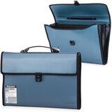 Портфель пластиковый BRAUBERG (БРАУБЕРГ), 390×260×40 мм, 3 отделения, с окантовкой, темно-синий
