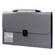 Портфель пластиковый BRAUBERG (БРАУБЕРГ), А4, 327×254×30 мм, диагональная фактура, 13 отделений, пластиковый индекс, серебристый