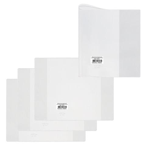 """Обложка ПВХ для учебника и тетради А4, контурных карт, атласов, прозрачная, плотная, 120 мкм, 292х442 мм, """"ДПС"""""""
