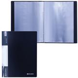 Папка 20 вкладышей BRAUBERG (БРАУБЕРГ) стандарт, черная, 0,6 мм