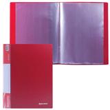Папка 30 вкладышей BRAUBERG (БРАУБЕРГ) стандарт, красная, 0,6 мм