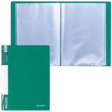 Папка 40 вкладышей BRAUBERG (БРАУБЕРГ) стандарт, зеленая, 0,7 мм