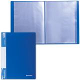 Папка 40 вкладышей BRAUBERG (БРАУБЕРГ) стандарт, синяя, 0,7 мм