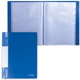 Папка 60 вкладышей BRAUBERG (БРАУБЕРГ) стандарт, синяя, 0,8 мм