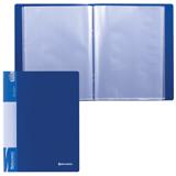 Папка 80 вкладышей BRAUBERG (БРАУБЕРГ) стандарт, синяя, 0,9 мм