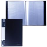Папка 100 вкладышей BRAUBERG (БРАУБЕРГ) стандарт, черная, 0,9 мм