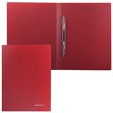 Папка с металлическим скоросшивателем BRAUBERG (БРАУБЕРГ) стандарт, красная, до 100 листов, 0,6 мм