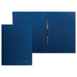 Папка с металлическим скоросшивателем BRAUBERG (БРАУБЕРГ) стандарт, синяя, до 100 листов, 0,6 мм