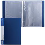 Папка 20 вкладышей BRAUBERG «Contract» (БРАУБЕРГ «Контракт»), синяя, вкладыши-антиблик, 0,7 мм, бизнес-класс