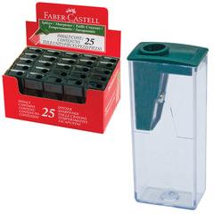 Точилка FABER-CASTELL (Германия), пластиковая с контейнером