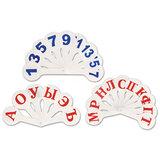 Веера, набор 3 штуки (гласные, согласные, цифры до 20)
