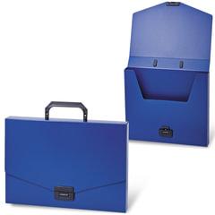 Портфель пластиковый BRAUBERG «Energy», А4, 256×330 мм, без отделений, синий