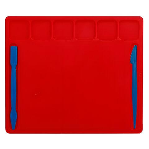 Доска для работы с пластилином, А5, цветная, 2 стека