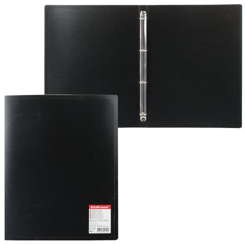 Папка на 4 кольцах ERICH KRAUSE «Standard», 24 мм, черная, 0,5 мм