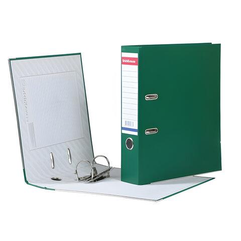 """Папка-регистратор ERICH KRAUSE """"Стандарт"""", с покрытием из ПВХ, 70 мм, зеленая"""