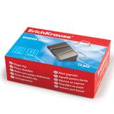 Зажимы для бумаг ERICH KRAUSE, комплект 12 шт., 51 мм, на 230 листов, черные, в картонной коробке