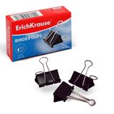 Зажимы для бумаг ERICH KRAUSE, комплект 12 шт., 19 мм, на 60 л., черные, в картонной коробке