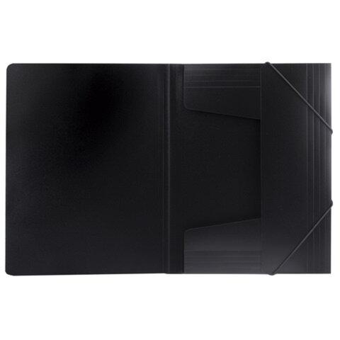 Папка на резинках ERICH KRAUSE «Megapolis», А4, черная, до 300 листов, 0,6 мм
