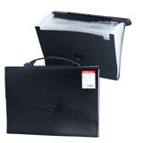 Портфель пластиковый ERICH KRAUSE, А4, 328×235×25 мм, 13 отделений, пластиковый индекс, черный