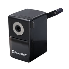 Точилка механическая BRAUBERG «BlackJack», металлический механизм, цвет чёрный