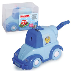 Точилка механическая ПИФАГОР «Полицейская машина», металлический механизм, синяя/<wbr/>голубая машина