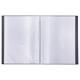 Папка 20 вкладышей BRAUBERG (БРАУБЕРГ) бюджет, черная, 0,5 мм