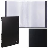 Папка 20 вкладышей BRAUBERG «Office», черная, 0,5 мм