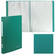 Папка 40 вкладышей BRAUBERG «Office», зеленая, 0,6 мм