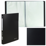 Папка 40 вкладышей BRAUBERG «Office», черная, 0,6 мм