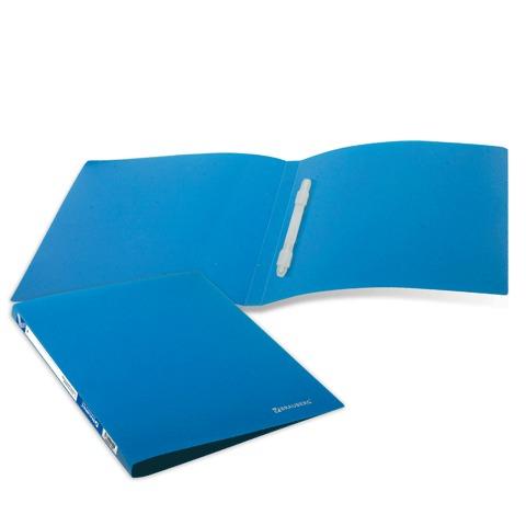 Папка с пластиковым скоросшивателем BRAUBERG (БРАУБЕРГ) бюджет, синяя, до 100 листов, 0,5 мм