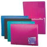 Папка на резинках ERICH KRAUSE «Vivid Colors», А4, 6 отделений, пластиковые индексные ярлычки, 4 цвета ассорти, 0,65 мм