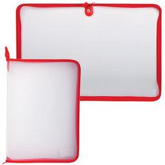 Папка на молнии пластиковая, А4, прозрачная, размер 320×230 мм