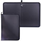 Папка на молнии пластиковая, А4, матовая, черная, размер 320×230 мм