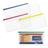 Папка-конверт на молнии ERICH KRAUSE, 255×130 мм, для билетов и документов, прозрачная, 0,14 мм