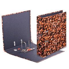 Папка-регистратор HERLITZ «Кофе», ламинированный картон, 80 мм