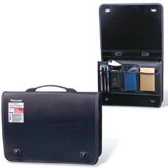 Портфель пластиковый BRAUBERG контракт, А4, 370×270×90 мм, 1 отделение, 2 накладных кармана, черный