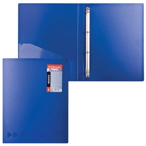 Папка на 4 кольцах ERICH KRAUSE «Megapolis», 24 мм, синяя, 0,8 мм