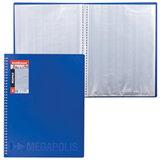 Папка 40 вкладышей ERICH KRAUSE «Megapolis», на спирали, синяя, 0,6 мм